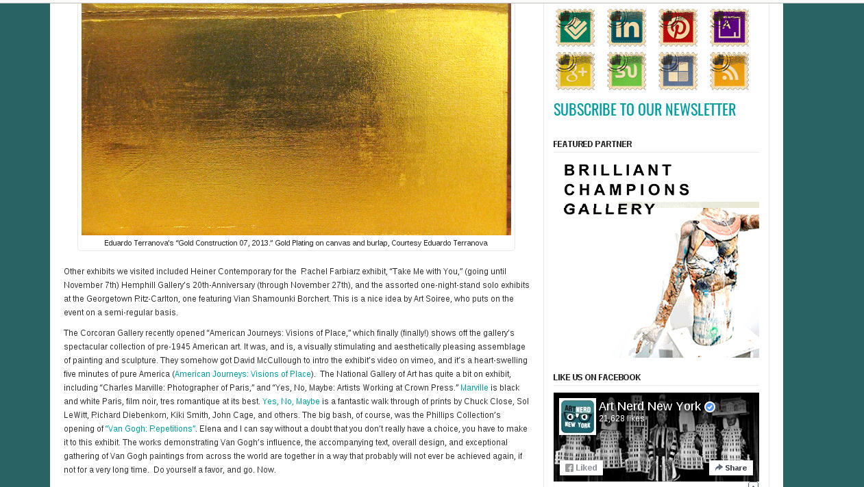 Art Nerd New York, Nov. 2013